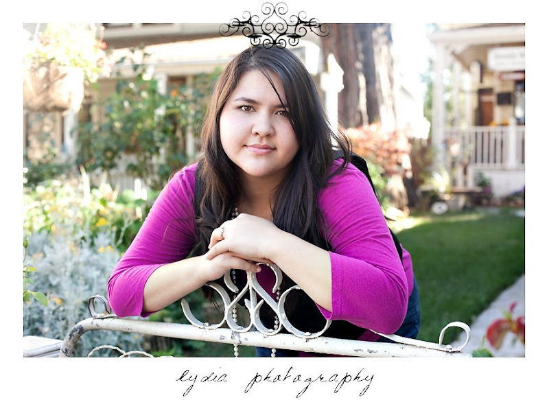Elizabeth's senior pictures in Nevada City