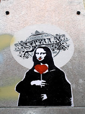 Mona Lisa, Da Vinci, graffiti, street art, graffiti stencil, artwork