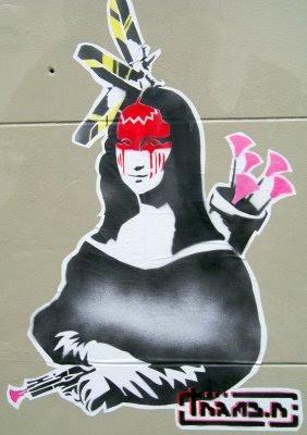 Mona Lisa, Da Vinci, graffiti, street art, graffiti stencil, artwork
