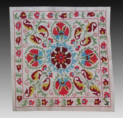 suzani, textiles, suzanis, woven textile, Asian Textile, Uzbek textiles, Uzbekistan textiles