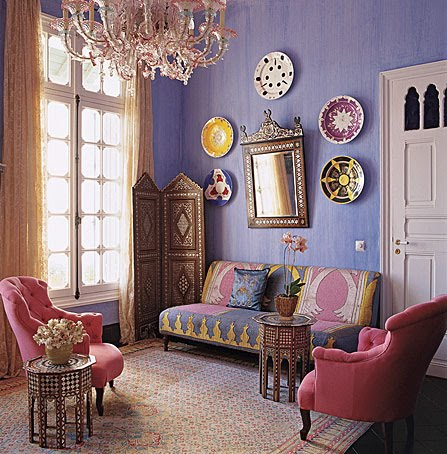 Moroccan Interior Design on Inspire Bohemia  Beautiful Wall Decor And Art  Plates  Part I