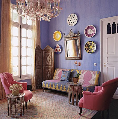 I Have Used This Image In A Past Post, However I Couldnu0027t Help But Include  It Again As It Shows Pretty Hand Painted Moroccan Plates Being Used As Wall  Art.