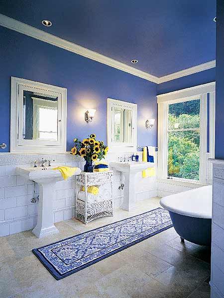 Skarrlette 39 s hammer blue is better for White and blue bathroom ideas