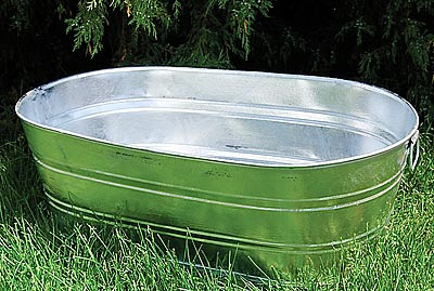 Economic Research Galvanized Tub