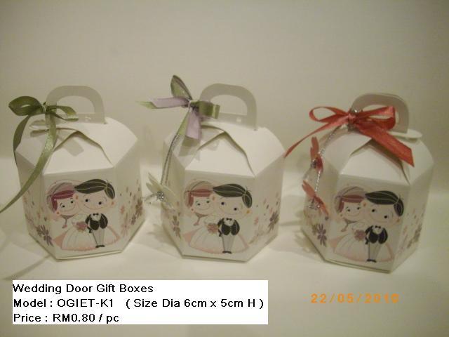Wedding Gift Ideas Malaysia : ... Kuala Lumpur , Malaysia . : Wedding Door Gift Boxes : Model OGIET-K1