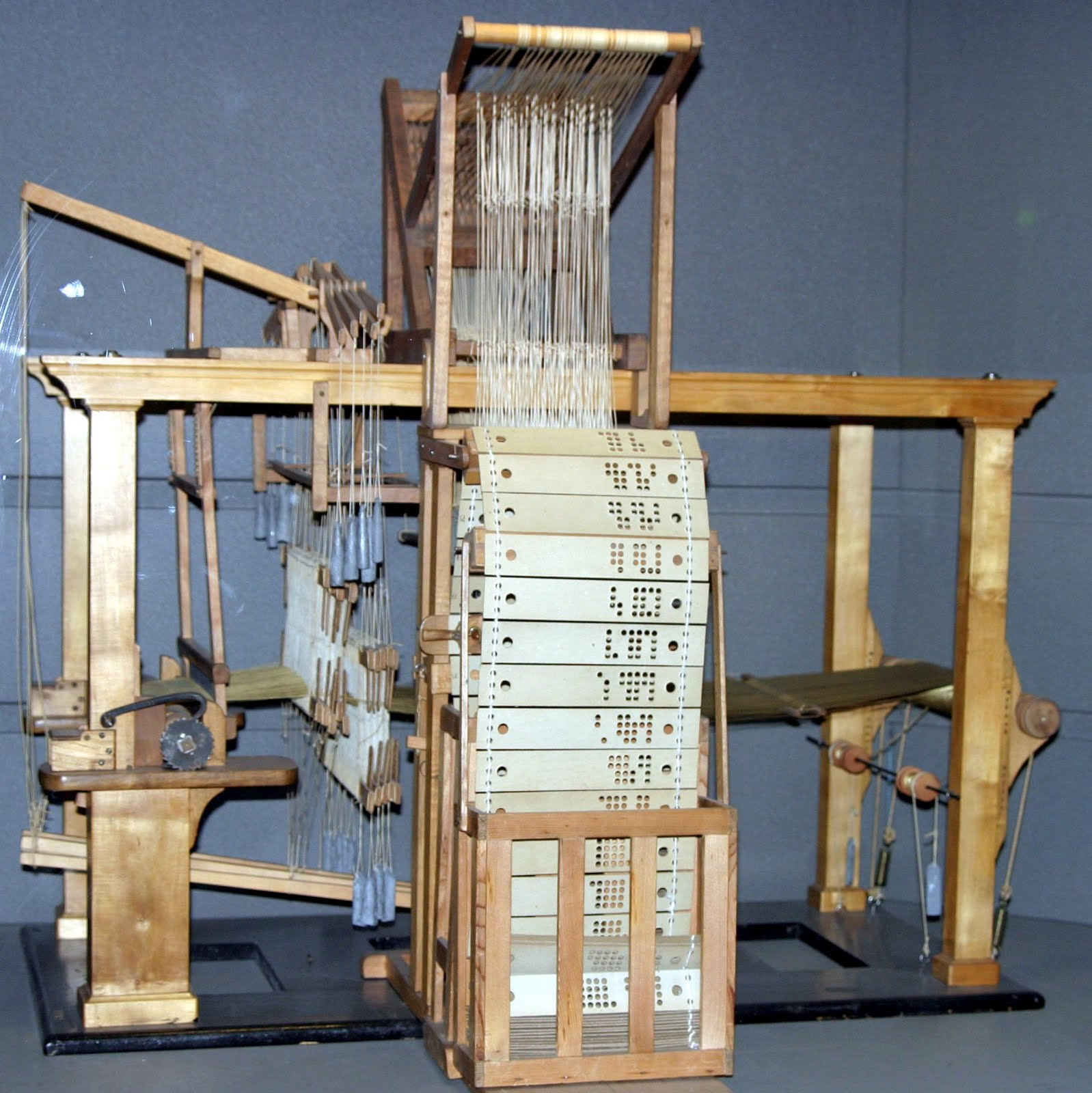 jacquard loom the jacquard loom was invented by joseph marie jacquard ...