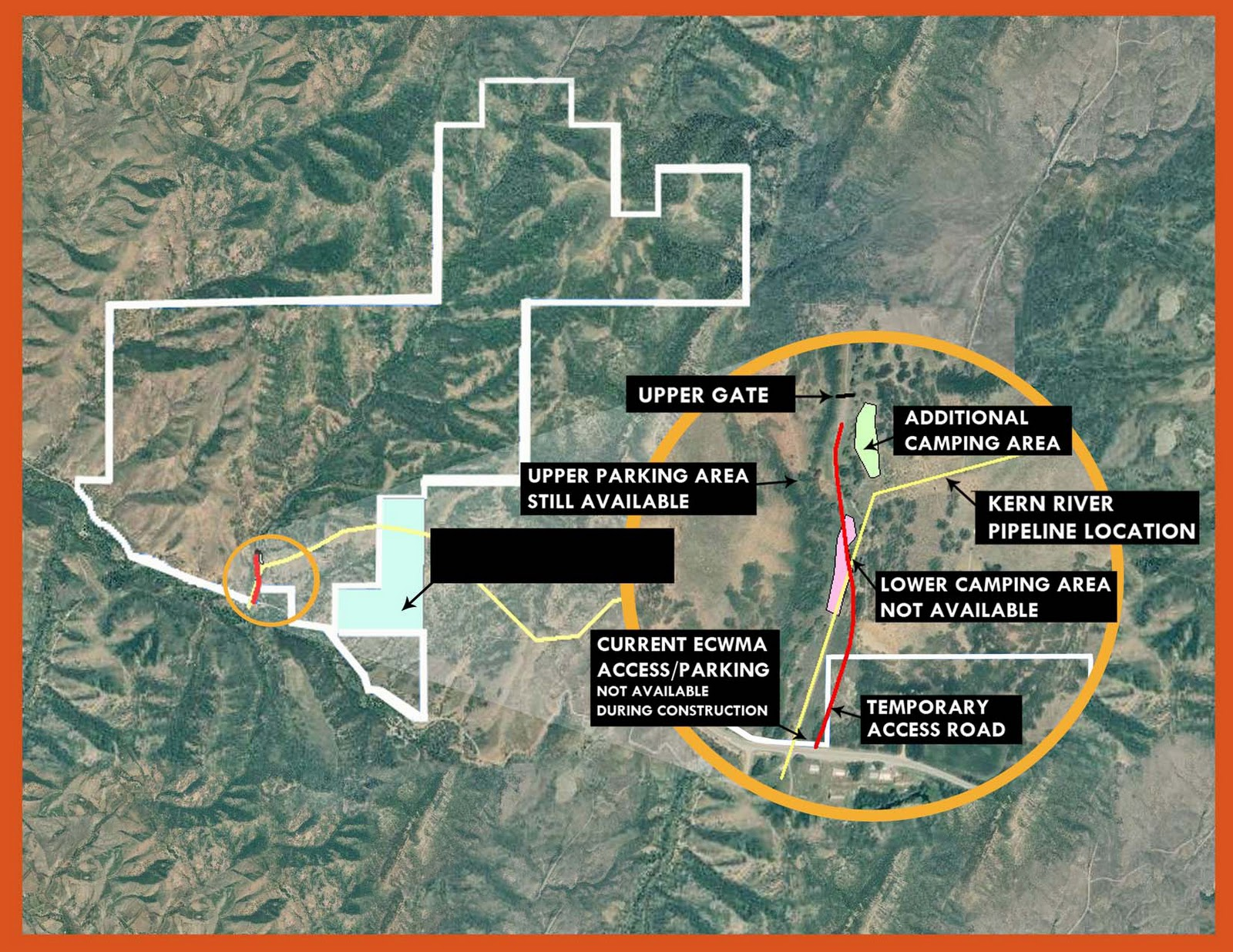 construction affects camping area adds acres to east canyon wma