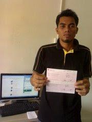 Dapat Cek RM1000 hanya kerja dari rumah