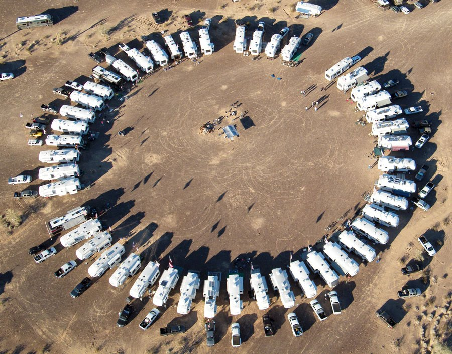 Circling of the Montanas, Quartzsite 2011