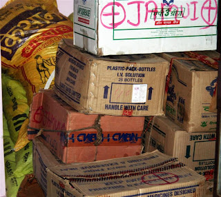 Clothes n medicines from sent by Mr.Rajul(Jamui)