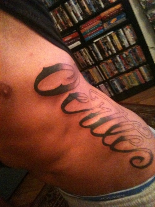 Lower Back Name Tattoos - The