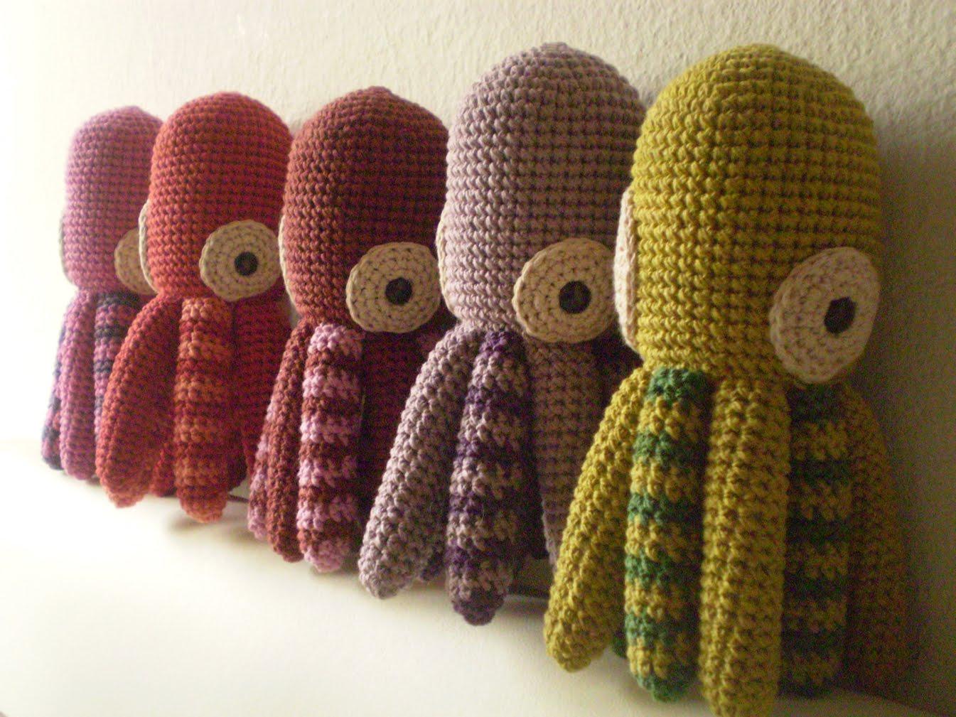 patrón de pulpo/ amigurumi octopus pattern