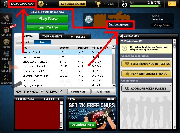 Cheat texas holdem poker di facebook dengan cheat engine
