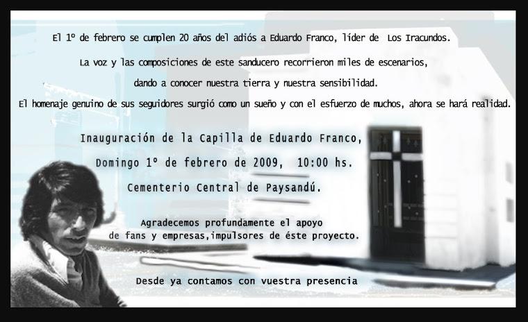 INAUGURACION  DE LA CAPILLA A   EDUARDO FRANCO
