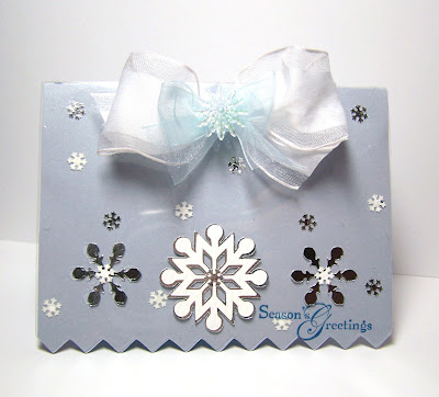 snowflakes cards hand-made
