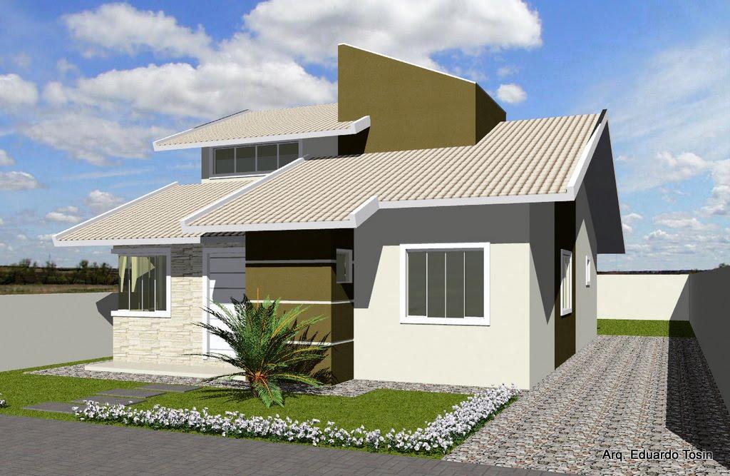 Fachadas casas populares fotos projetos decorando veis for Decorando casa