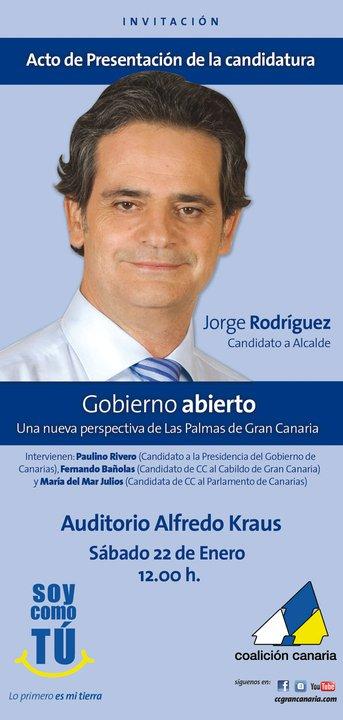 Consejero de Economia de Canarias borracho en un acto JorgeAlcalde