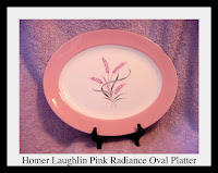 Homer Laughlin Pink Radiance Oval Platter - Click for full size view
