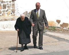 Gente muradeña - la Tía Rosario y Vicente