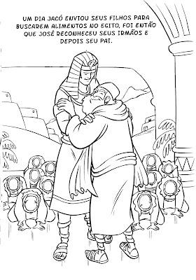 Desenho de José do Egito para crianças