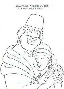 jose%2520e%2520pai%2520jacoh Desenho de José do Egito para crianças