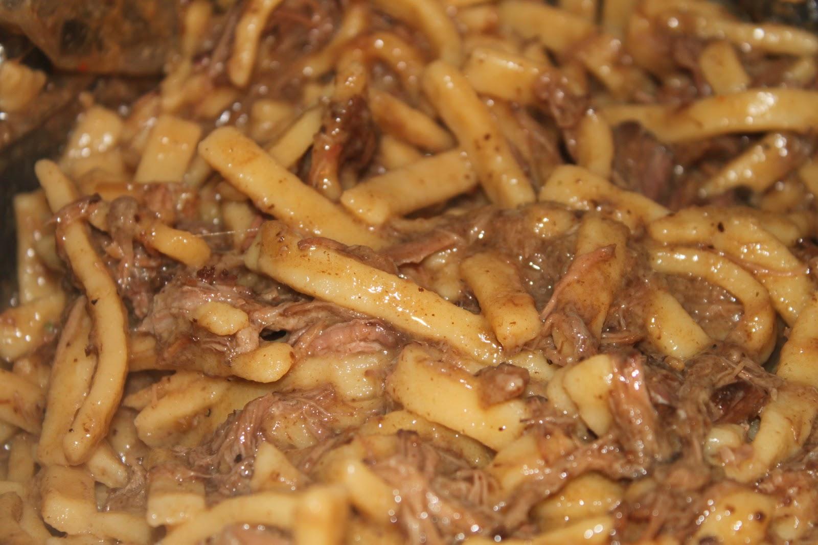 Serve over mashed potatoes