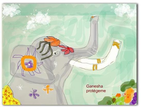 Ganesha cuida mi mente y mi corazón