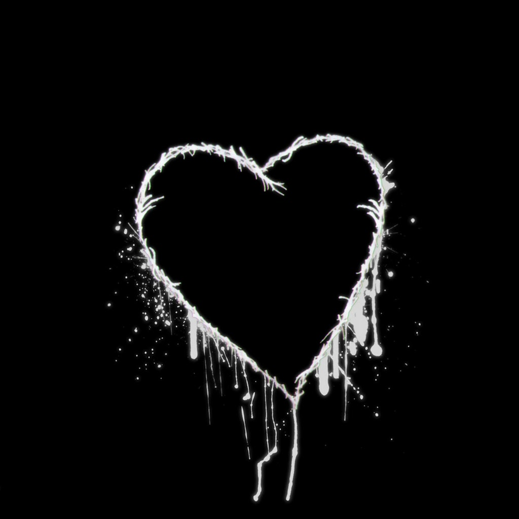 Love Black And White Photography Heart
