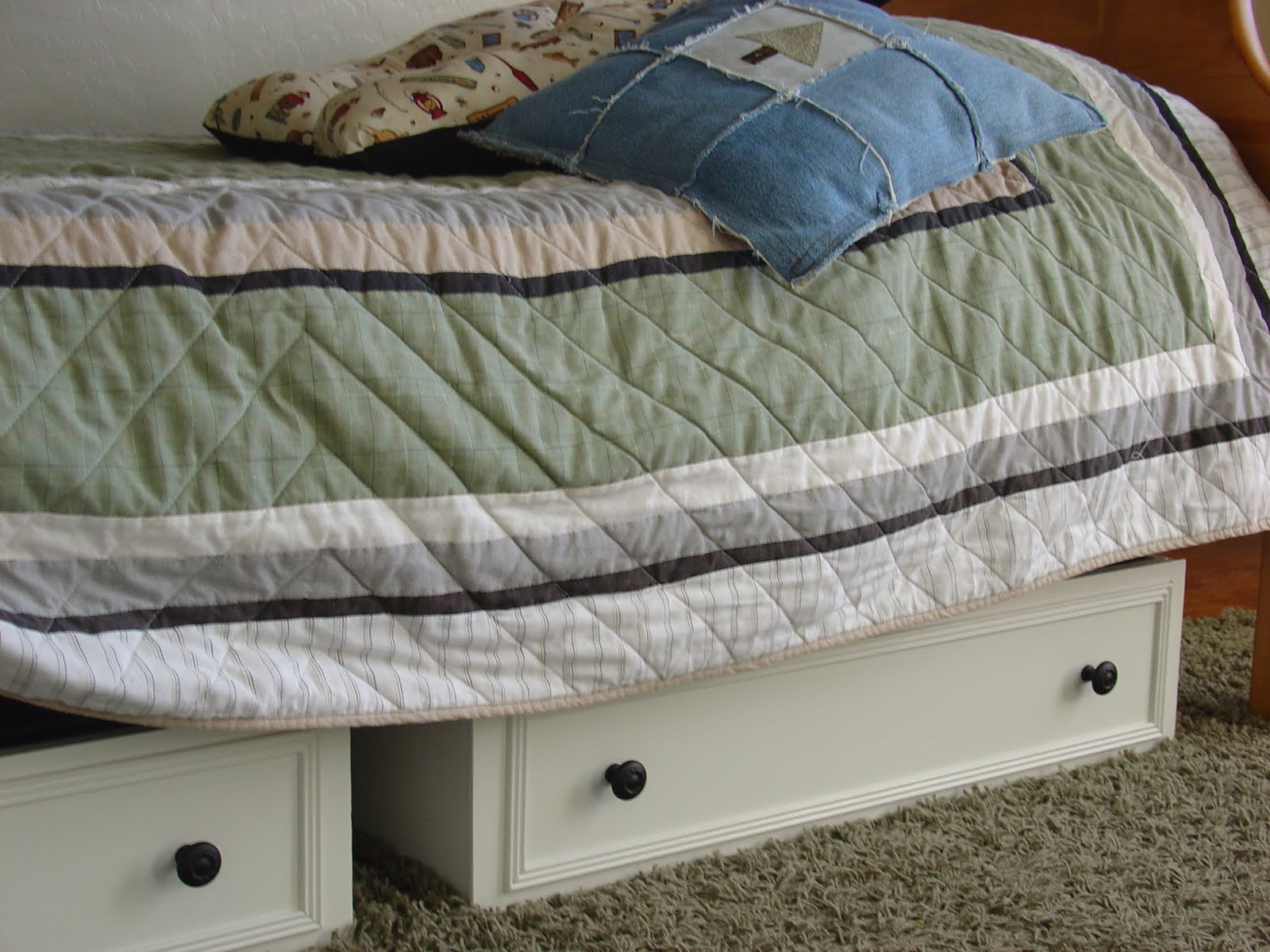 bookcase wolf daniel by underbed drawer s under with captain products queen furniture amish drawers bed b beds