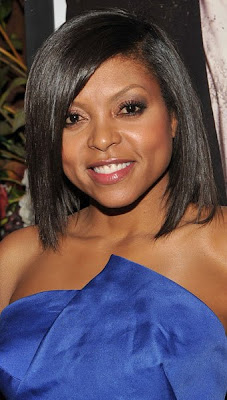 Taraji P Henson Looks Marvelous In This Electric Blue Sculptural
