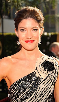 I am loving Jennifer Carpenter black and nude beaded one-shouldered Zuhair ...
