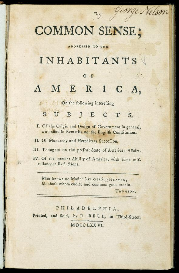 an analysis of thomas paines role in american independence Thomas paine's common sense arguments can be made that average american was more prosperous than the average briton yet there were the terrible injustices the colonists could not forget arguments for independence were growing thomas paine would provide the extra push common sense.
