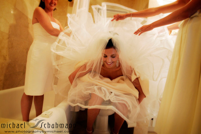 How Does A Bride Use The Bathroom In Her Wedding Gown Wedding