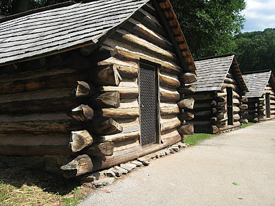 Reconstructed army huts