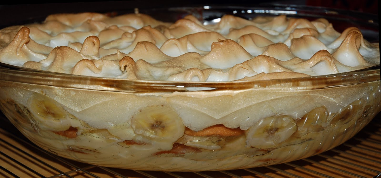 classic banana pudding with a meringue topping, recipes below