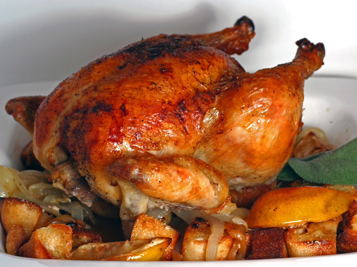 Roast Chicken: Roast Chicken With Lemon And