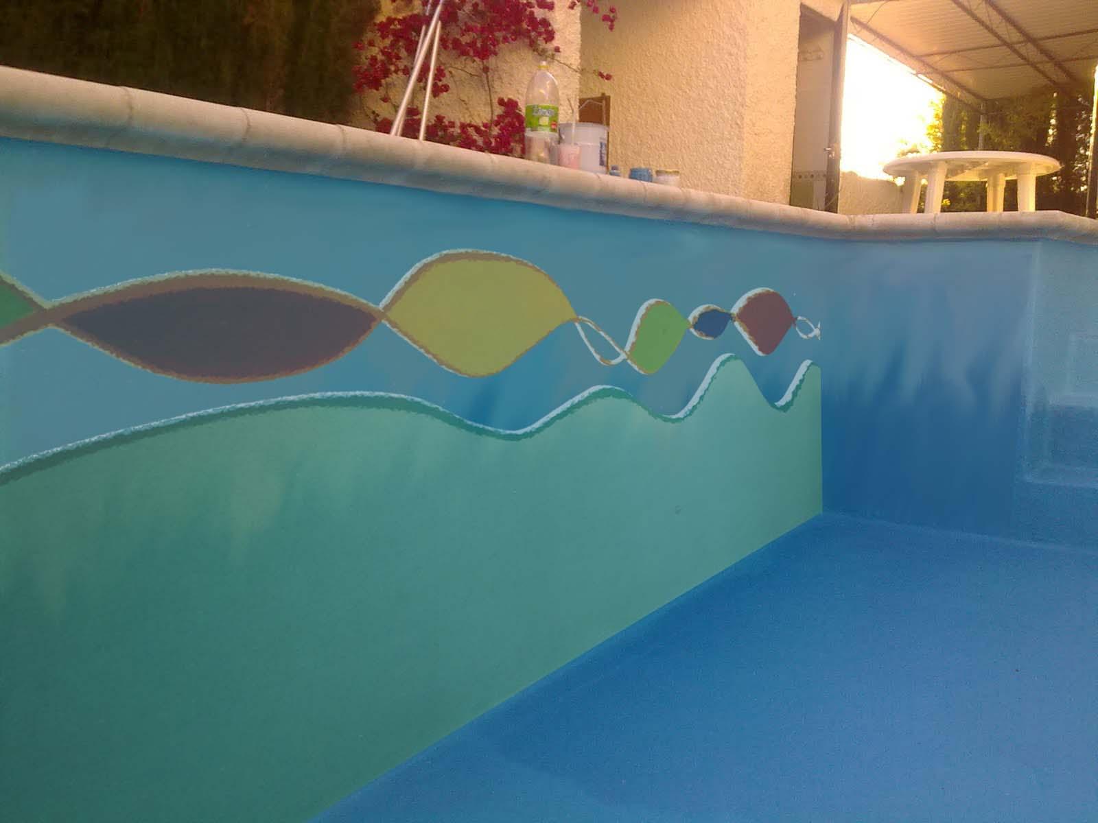 Deco project murales en piletas for Piletas de concreto