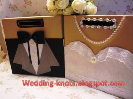 Wedding knots bride and groom ang pao box ap 08 for Ang pao decoration