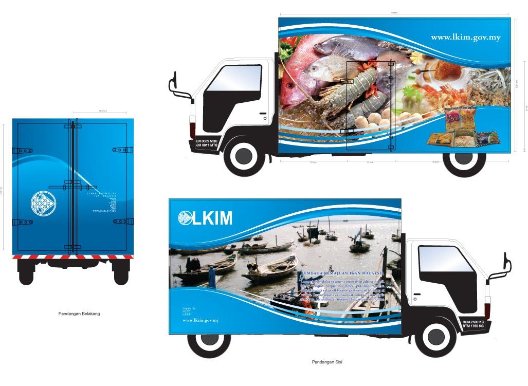 Sticker design lorry