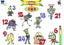 TÁBOA DE MULTIPLICAR  X 3