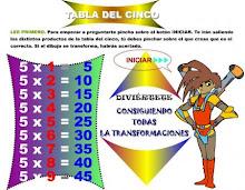 TÁBOA DE MULTIPLICAR X 5