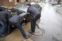 as estradas na Ucrânia não dão motivos para orgulho