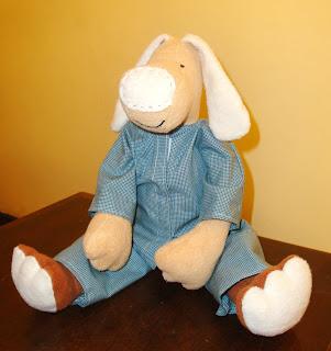 Cachorro de pijama Azul