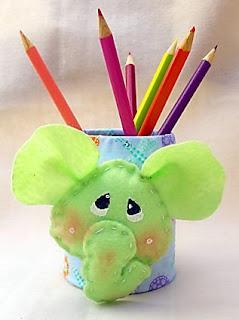 Porta lápis elefante