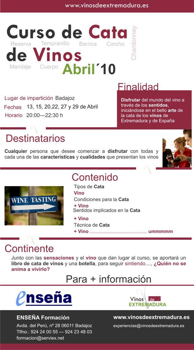 Curso de cata de vinos en badajoz mundo vino for Cursos de cocina en badajoz
