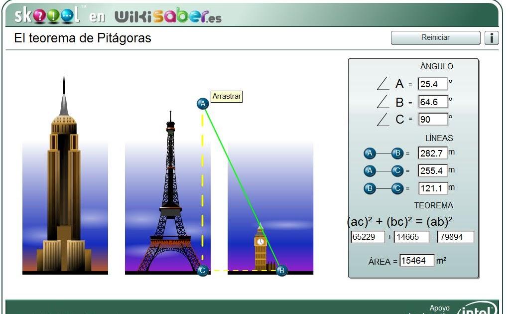 teorema de pit u00e1goras  simulador