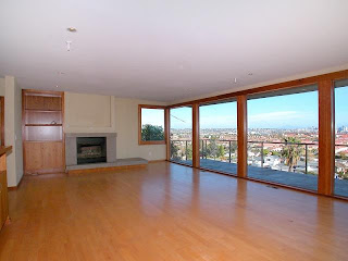 Point Loma Foreclosure Property - Living Room with View