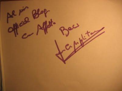Riconoscimenti e autografi da Luca per il suo Blog!!