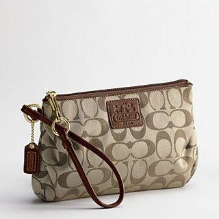 designer handbags coach 6hcw  COACH ALI SIGNATURE LARGE WRISTLET