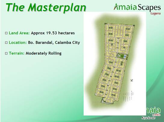 Amaia Scapes Masterplan
